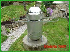 Záhradný gril s vodným kúpeľom VOGR-komplet