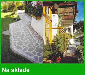 Záhradné chodníky (Formy na dlažbu)-prírodny kameň