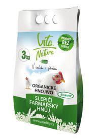 VITA NATURA - Organické hnojivo slepačí farmársky hnoj peletovaný 3 kg